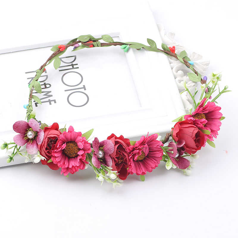 Christmas Headband Red Daisy Girls Hair Accessories Wedding Hair Flower Girl Daisy Headband Flower Headband -Baby Headband