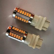 Yiastar 4 шт t25 3157 светодиодный лампы для автомобилей тормоза/стоп