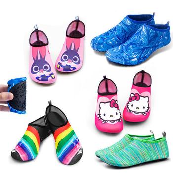 Buty do nurkowania na świeżym powietrzu buty do nurkowania brodząc buty rzeczne buty na plażę para buty do pływania buty do jogi buty na bieżnię tanie i dobre opinie CN (pochodzenie) WOMEN Szybkie suszenie Elastyczna tkanina RUBBER