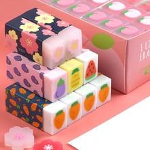 Sharkbang 6PCS Creative Clover Sakura Carrot Dog Kawaii Rubber Eraser Pencil Correction Tool Stationery School Gift For Kids