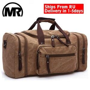 Image 1 - MARKROYAL sacs de voyage en toile souple pour hommes, sacs fourre tout de voyage pour week end, sac de grande capacité, livraison directe