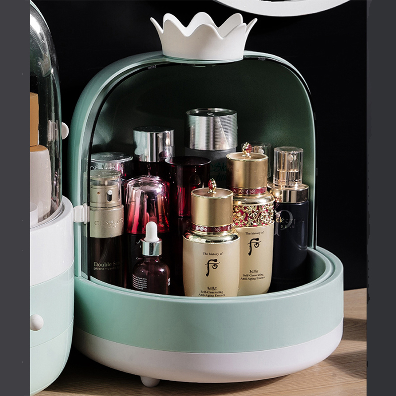 2019 Jewelry Cosmetic Storage Drawer Save Space Large Desktop Storage Box Creative DIY Professional Makeup Organizer