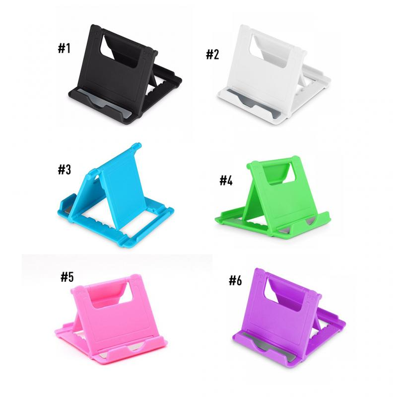 New Universal Mobile PhoneStand Stable Portable Foldable Plastic Holder Cellphone Desk Holder Bracket Support For Phones