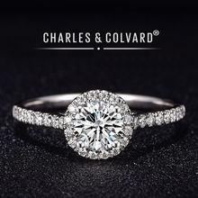 Обручальные кольца с муассанитом для женщин бесцветное кольцо