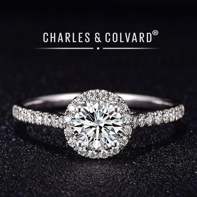 婚約指輪女性 18 18k ホワイトゴールド無色 vvs ハーツ矢印チャールズ colvard 永遠 1 モアッサナイトリング指輪   -