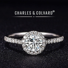 Moissanite Verlovingsringen Voor Vrouwen 18K White Gold Kleurloos Vvs Hearts Arrows Charles Colvard Altijd Een Moissanite Ring