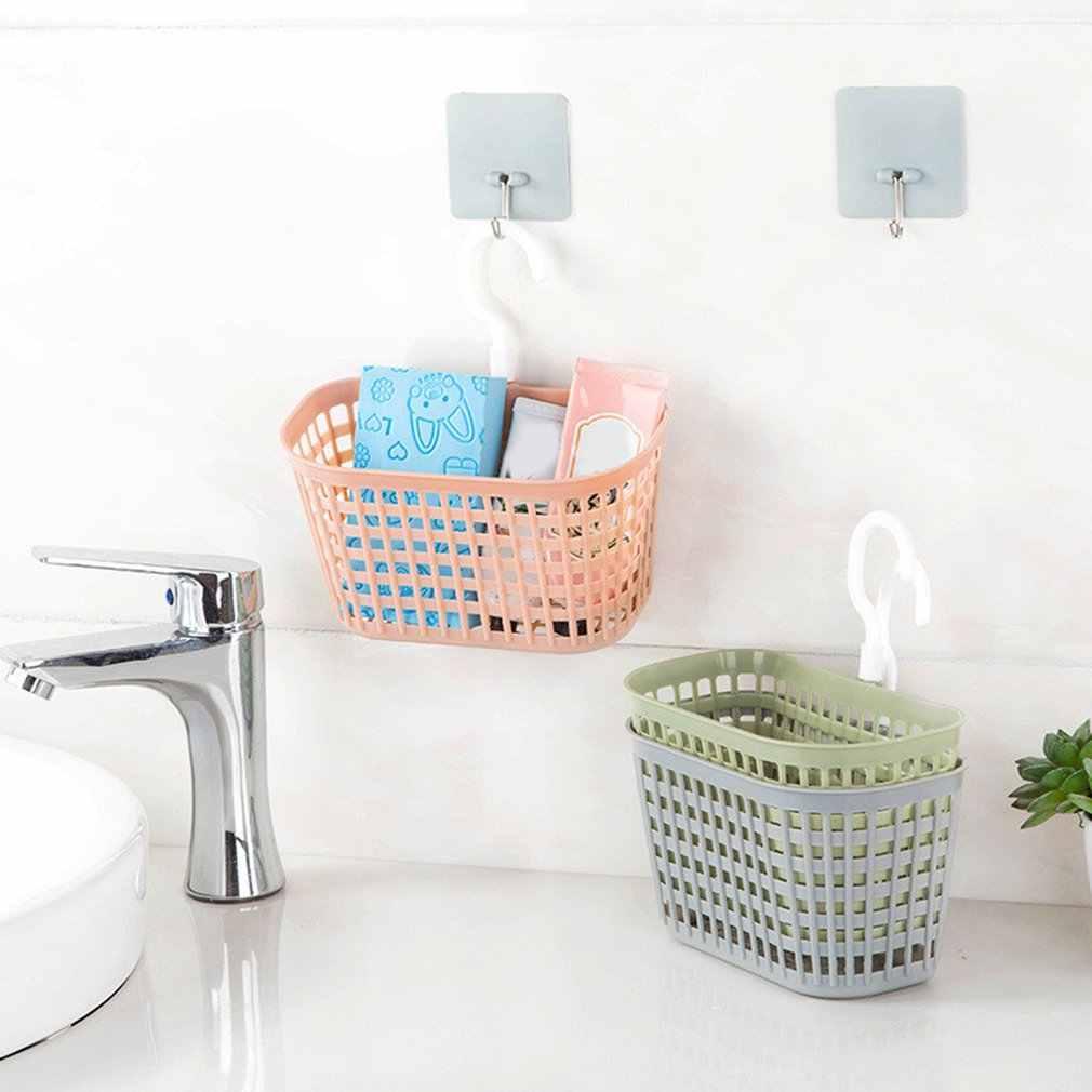 Attaccatura di parete Doccia Basket Hollow Cesto di Scarico Mensola del Bagno di Lavaggio In Camera Contenitori e complementi per Cucina cesto Di casa Organizzatore