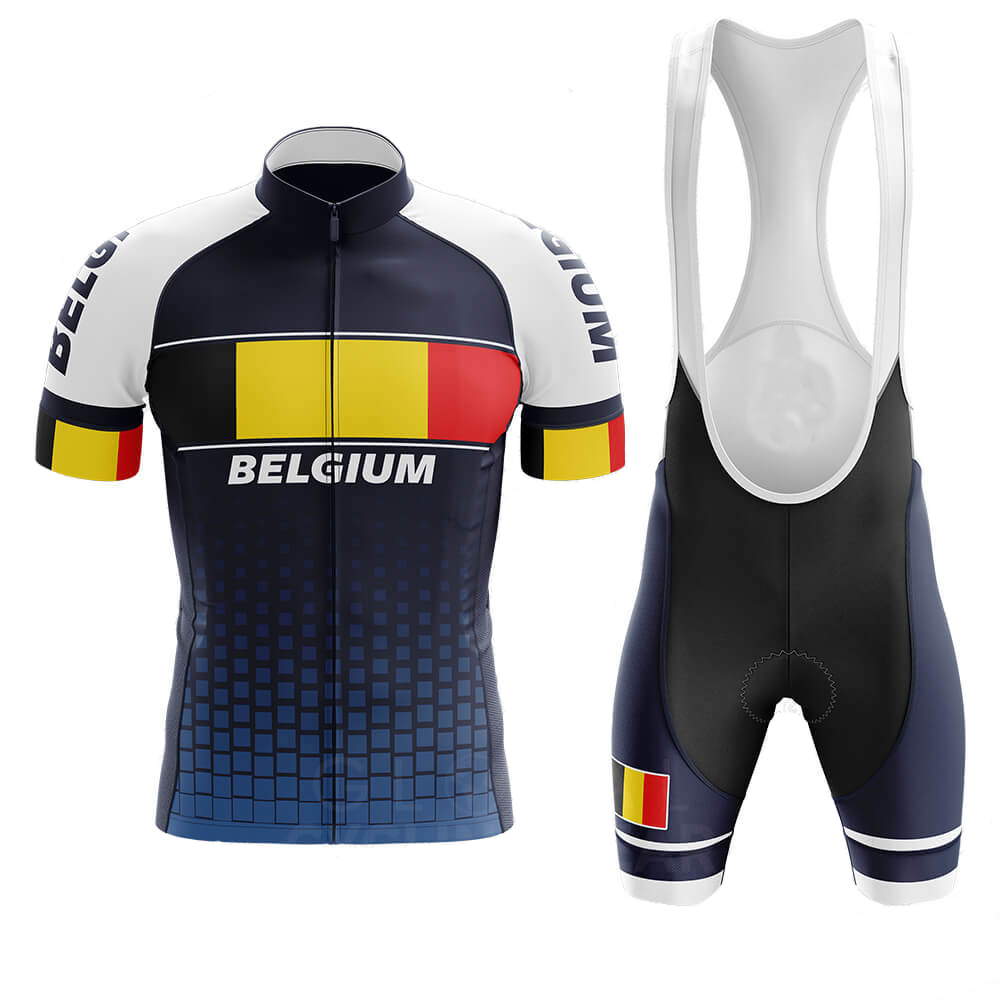 2020 New Belgian Flag Men's Team Cycling Jersey <font><b>Bike</b></font> <font><b>Wear</b></font> Short Sleeve Cycling Roadwear <font><b>Bike</b></font> <font><b>Wear</b></font> 20DGEL Breathable Pad image