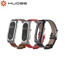 Correa de cuero para Xiaomi Mi Band 2, correa de cuero genuino para pulsera inteligente Mi Band 2, sin tornillo, accesorios para reloj inteligente