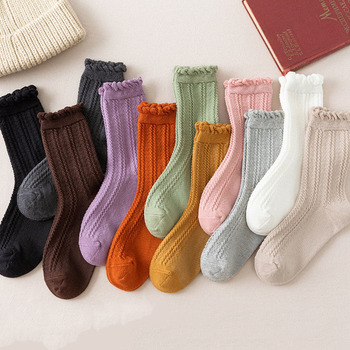 ruffle frilly socks woman kawaii calcetines de la mujer cute women meias mulher skarpetki meia calcetas white japanese sock