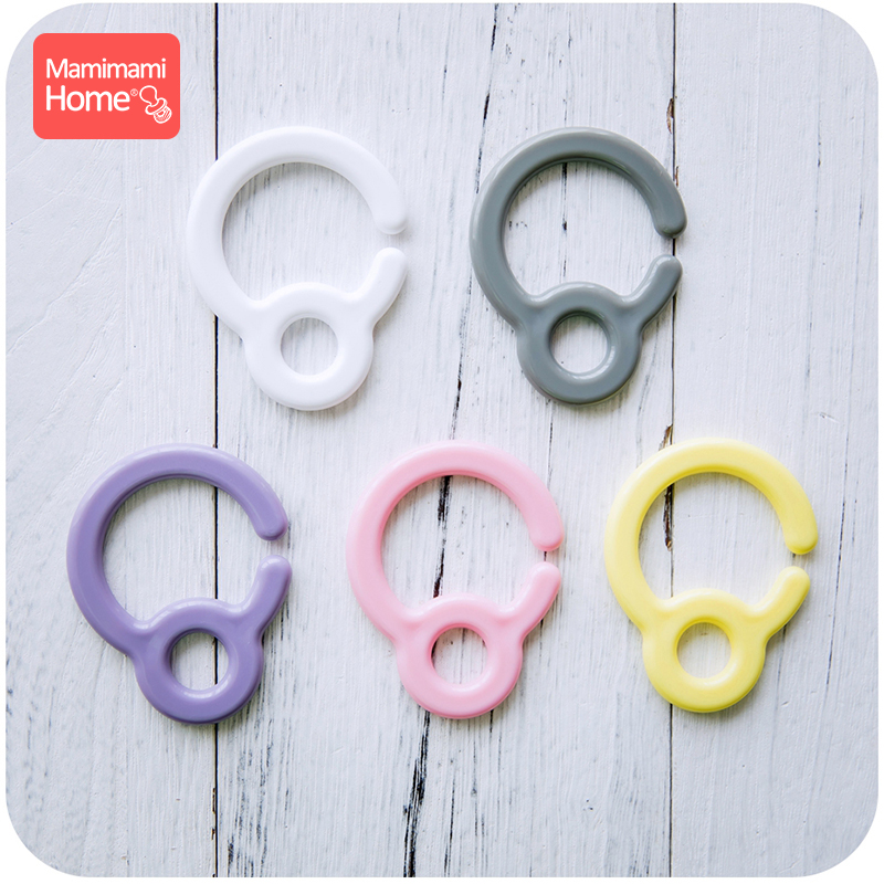10pcs Plastic Teething Ring Links For Baby Stroller Toys Pacifier Hook Plastic Teething Diy Clips Baby Teether Children'S Goods