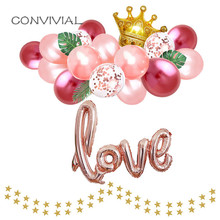 43inch Ligatures LOVE Letter Foil Balloon Anniversary Valentines Party Decoration Wedding Balloons Love Globos Rose Gold