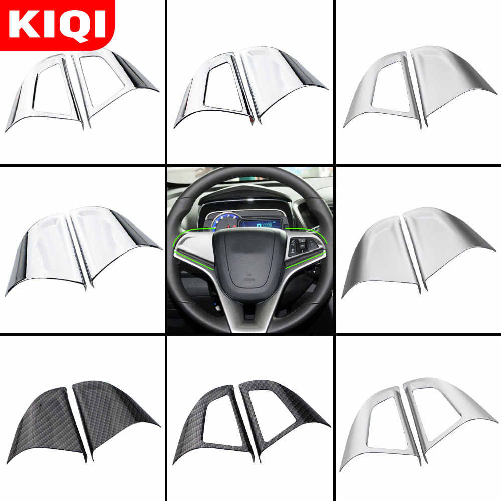 Voiture Chrome volant housse de protection garniture voiture autocollant pour Chevrolet Cruze berline Hatchback 2009-2015 Trax