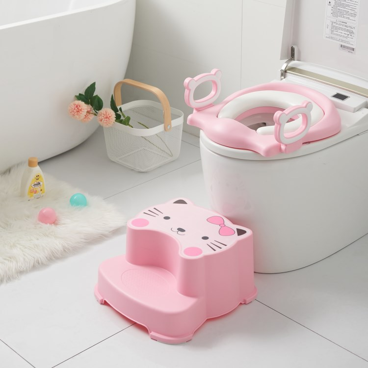 Korean-style Toilet For Kids Padded CHILDREN'S Toilet Cartoon Plastic Toilet Portable Baby Urinal Lazy Useful Product