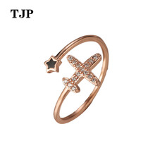 2019 Simple Fashion New Brand Personality Cross Open Index Finger Ring Ladies Charm Jewelry Birthday Gift vintage cross decorated index finger women men s ring