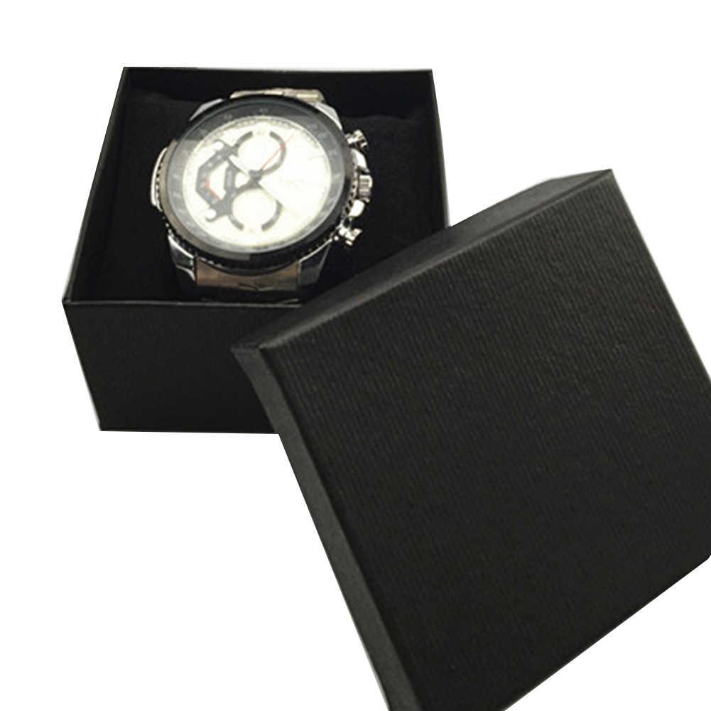 솔리드 컬러 스퀘어 골 판지 쥬얼리 시계 팔찌 팔찌 보관 케이스 포장 선물 상자