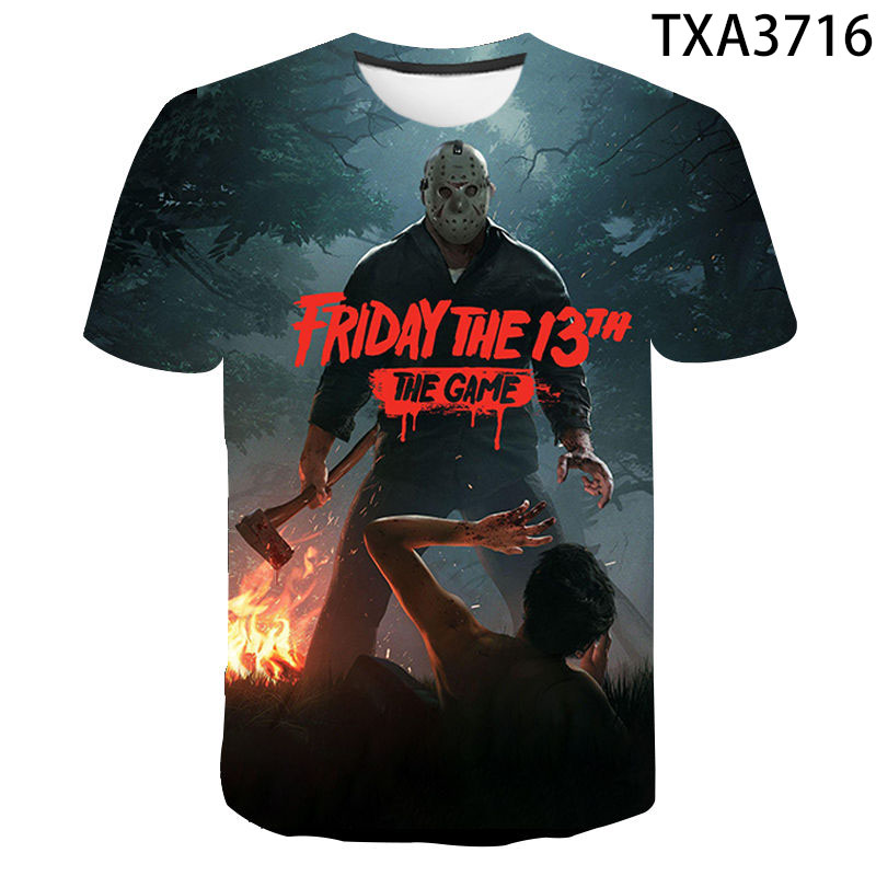 Jason Voorhees T Shirt Men Women 3D Print Horror Movie Friday The 13th Short Sleeve Casual Streetwear Boy Girl Cool Tops Tees