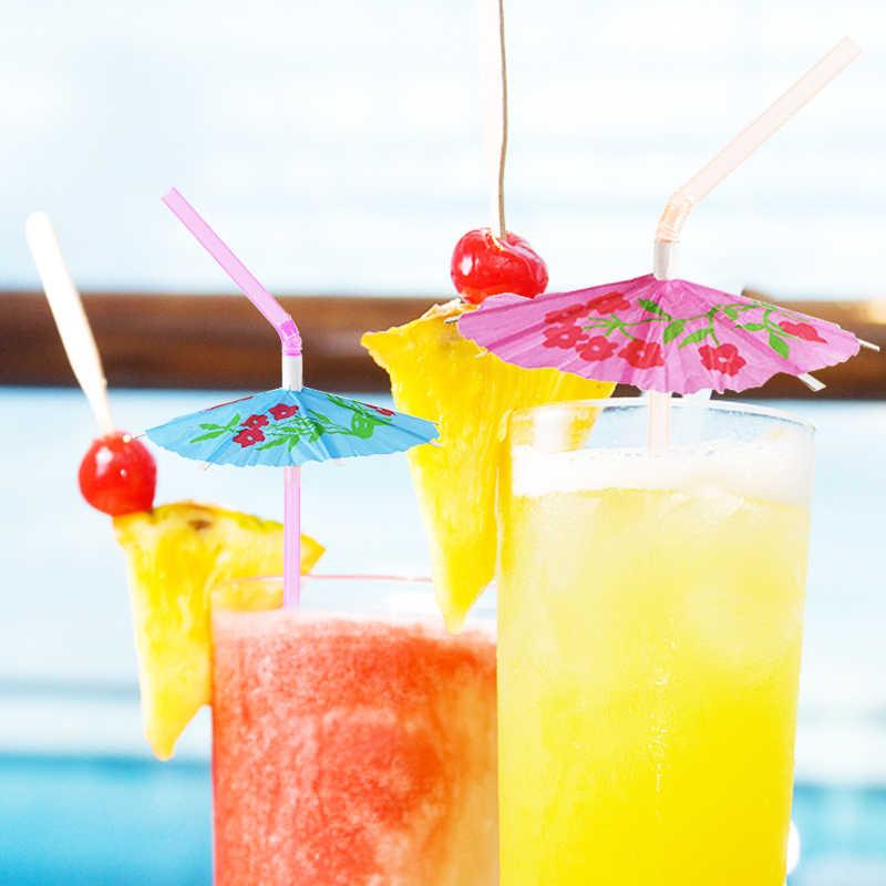 12 Pailles Tropical PELICAN thème Jaune Noir Soirée Cocktail Fête