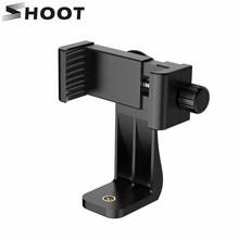 SHOOT Evrensel 360 Adaptör cep telefonu Makası Tutucu Dikey Braket SmartPhone Klip iPhone X 8 7 Samsung Xiaomi Telefon