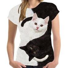 2021 Fashion New Cool T-shirt Men/Women 3D Tshirt Print Cat Short Sleeve Summer Tops Tees Men's T Shirt Children's Y2K Clothes