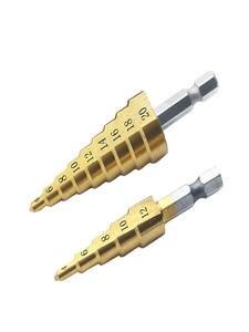 Cutter Drill-Bit-Set Cone-Hole Hex-Core Step Metal Titanium-Coated Hss Taper-Metric 4-12/20mm