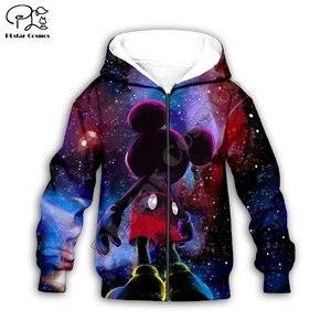 Детские толстовки для мальчиков и девочек с 3D-принтом галактики и космоса, детские штаны с героями мультфильмов, пуловер на молнии, комплект...