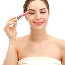Massageador de olho elétrico rugas remoção círculos escuros inchação ion massageador caneta vibração massagem ferramenta cuidados com os olhos