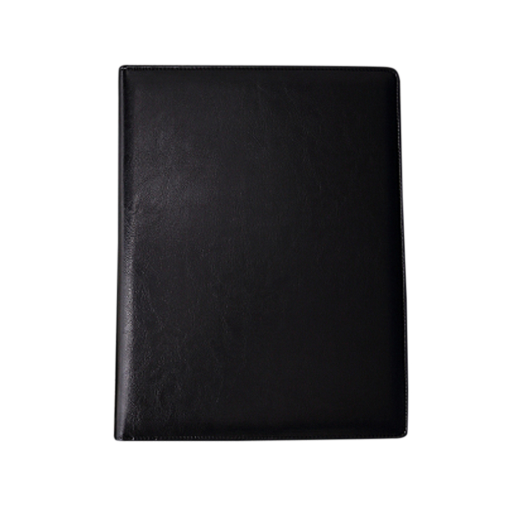A4 File Waterproof Fireproof Interview Meeting PU Leather Travel Document Organiser Conference Folder Portable School Business