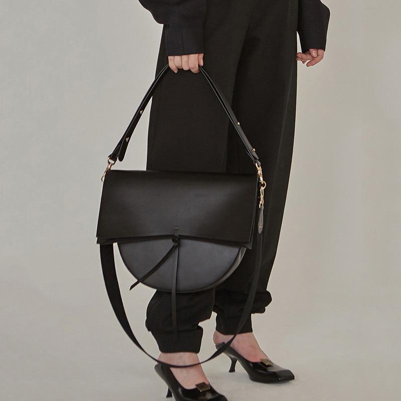 2019 High Quality PU Leather Handbag Women Bag Fashion Retro Big Capacity Shoulder Crossbody Bag Casual Tote Female Clutch Purse