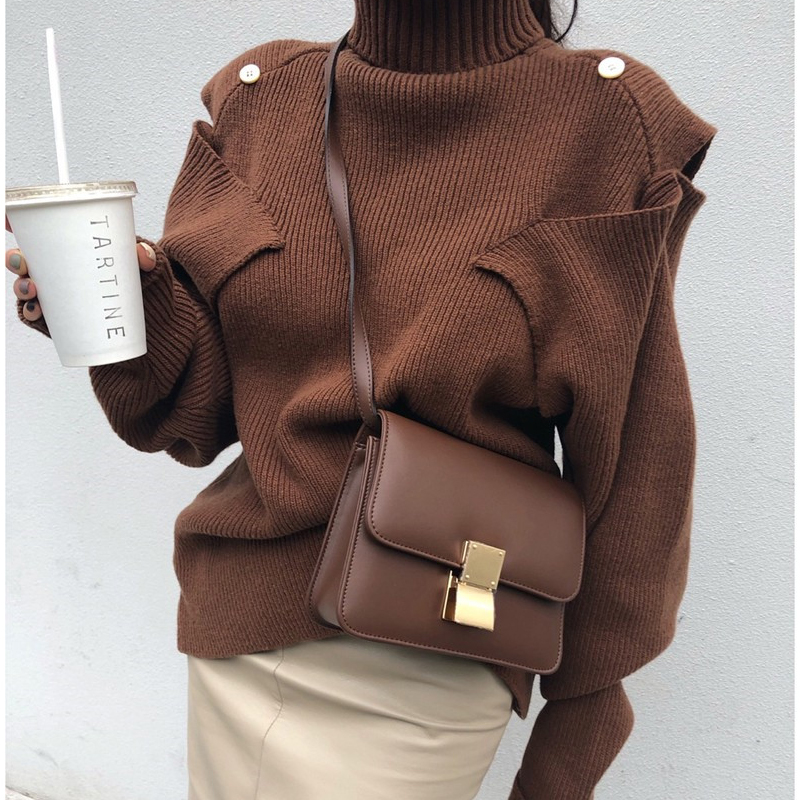 New Winter Sweater Women Pullover Girls Tops Vintage Long Sleeve Autumn Elegant Female Knitted Outerwear Warm Sweater Turtleneck