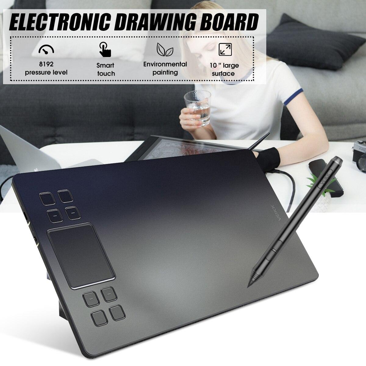 A50 Digitale Tabletten Zeichnung Tablet Mit 8192 Ebenen Batterie-freies Passive Stift Unterstützung Windows XP/Vista/7/8/8.1/10 und-Mac OS