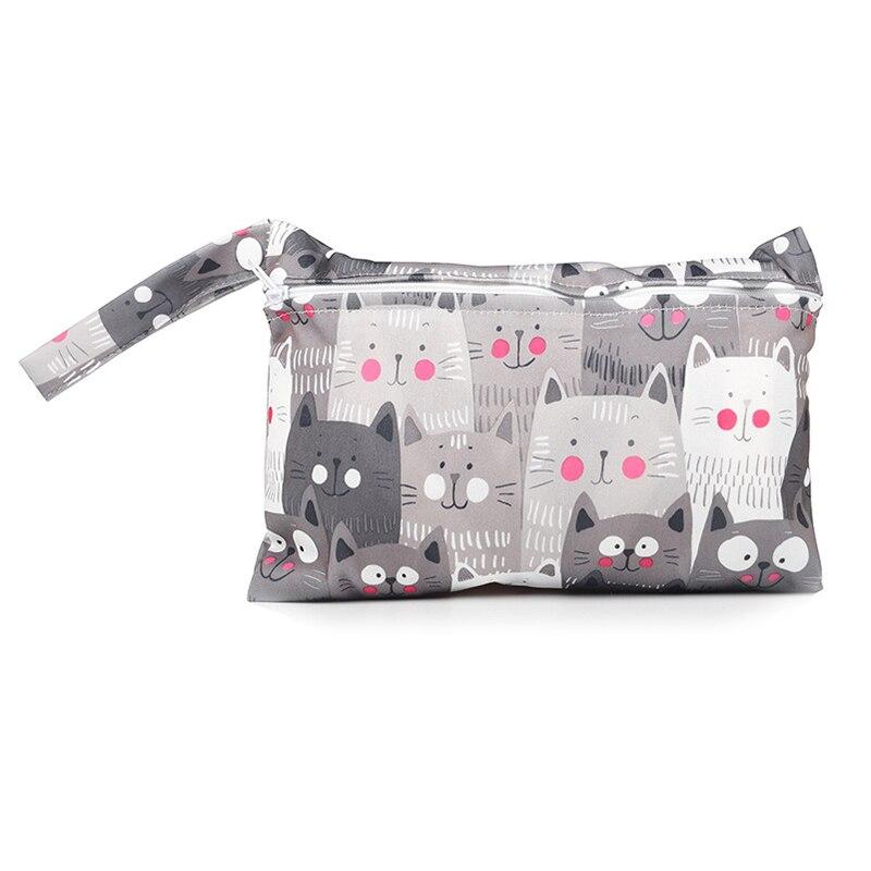 Nappy Fabric Bag Waterproof Wet Bag Printed Reusable Bag Baby Stroller Mask Cloth Bag Travel Diaper Bag Menstrual Pads Wholesale