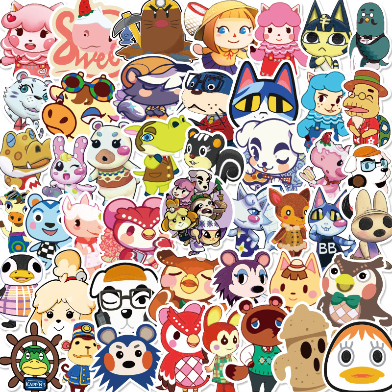 50PCS Animal Crossing Game Stickers Skateboard Fridge Guitar Laptop Motorcycle Travel Luggage Classic Toy Sticker For Kid Gift