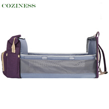 COZINESS Portable Folding Crib Mummy Bag Outing Lightweight Multifunctional Diaper Bags Double Shoulder Maternal Infant Bag