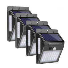 30/37/40/100 LED Solar Light PIR Motion Sensor 4Pcs Solar Power Lampu Tiga Sisi Luar Ruangan tahan Air Taman Path Dekorasi Lampu Dinding(China)