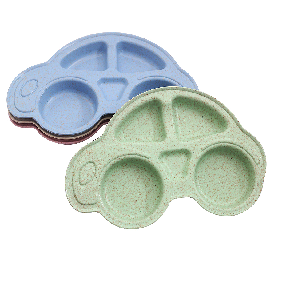 Baby Bowls Plate Tableware Children Food Container Placemat Dishes Infant Food Feeding Bowl Child Kids Feed Plate New Pink Green