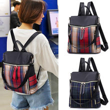 2019 New Arrived Genuine Nylon Backpack Women Shoulder Bag School Backpack Travel Satchel Rucksack Laptop Bag for Women(China)
