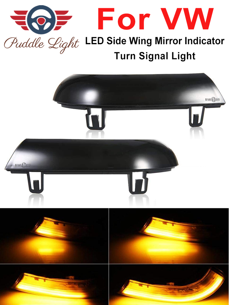 Dynamic LED Turn Signal Lights Rearview Mirror Indicator Blinker Repeater For Volkswagen