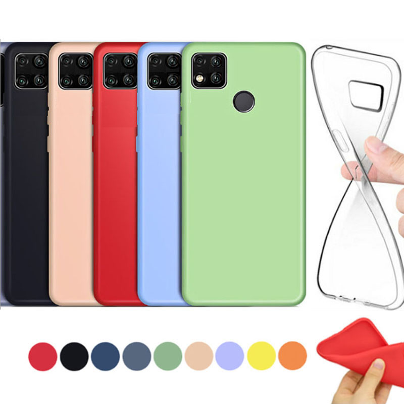 Soft cover for xiaomi redmi 9C case yellow matte shockproof thin woman coque clear transparent silicone case for redmi 9C cover