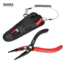 Booms Fishing X03 Fishing Pliers Aluminum Fish Hook Remover Braid Line Cutter Cutting Split Ring Tackle Tool with Lanyard Sheath booms fishing f5 fish hook remover stainless steel fishing pliers bent long nose 11 inches tackle tools