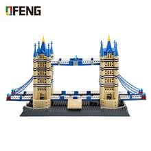 WANGE World Famous Architecture  Building Blocks Notre-Dame London Tower Bridge Figure Bricks Toys for Children Gifts