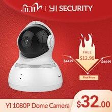 يي كاميرا بشكل قبة 1080P اللاسلكية IP مراقبة الأمن للرؤية الليلية النسخة الدولية مراقبة الطفل CCTV واي فاي سحابة المتاحة