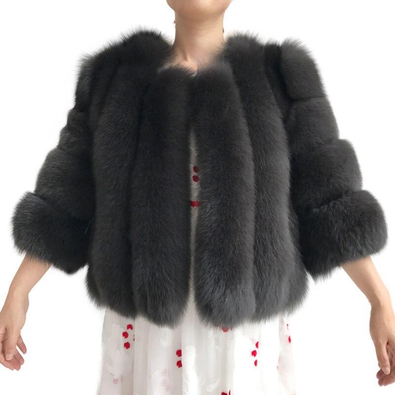 Femmes hiver manteau de fourrure épaisse nouveauté dame vraie veste de fourrure de renard en gros de haute qualité manteau de fourrure de renard-in Réel De Fourrure from Mode Femme et Accessoires    1