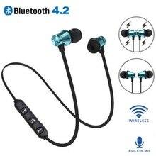 XT11 спортивные магнитные аттракционы Bluetooth наушники водонепроницаемые спортивные 4,2 с зарядным кабелем Молодежные Встроенный микрофон bluetooth-гарнитура