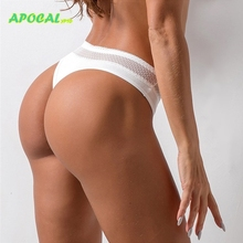 APOCAL Sexy T-back Cotton Womens Panties Underwear Women Thongs and G strings Seamless Lace Hollow out femme erotique Lingerie