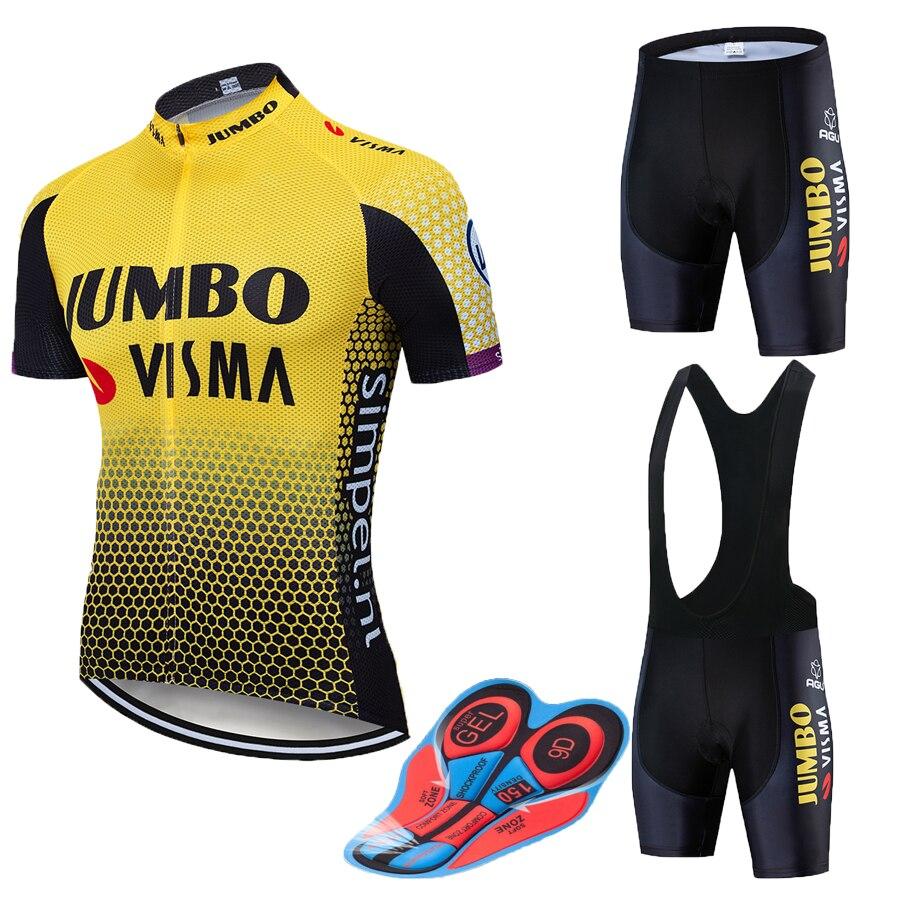 2019 Pro team Jumbo Visma radfahren anzug herren fahrrad Maillot MTB sommer reiten anzug männer der Roupa fahrrad kleidung