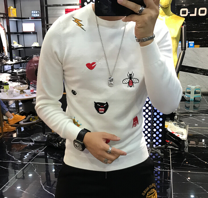 Mens Causal O Neck Sweater D Autumn Winter Christmas Pullover Knitted Jumper Sweaters Slim Fit Male Clothes