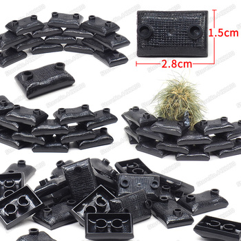 Military Black Sandbag Building Blocks Figures Special Forces Assembly Army Weapons Equipment Ww2 Moc Child Christmas Gifts Toys 12pcs set military wapen special armed forces soliders action figures gun toys building blocks compatible legoings for child