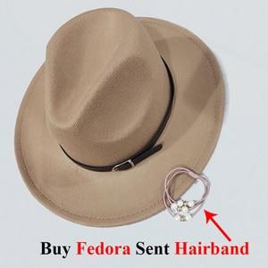 Image 5 - Mens Top Hats Felt Women Fedora Hat Winter Imitation Woolen Female Felt Hat Classic British Jazz Streetwear Top Hats for Men
