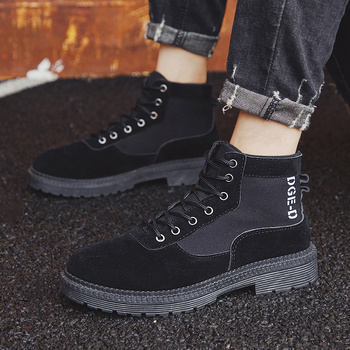 Men Casual Shoes Ankle Boots Black Chelsea Boots Zapatos De Hombre 4
